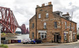The Forth Bridge and Albert Hotel  -  North Queensferry