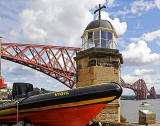 Boat, Lighthouse and Forth Bridge - North Queensferry