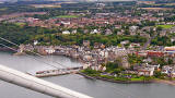 View to the SW  -  Looking down on South Queensferry from the Top of the South Tower
