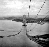 Forth Road Bridge under construction - 1962