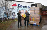 Direct Aid Depot at West Harbour Road, Granton  -  Aid is about to leave for Syria  -  Christmas 2013