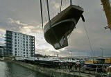 Granton Harbour - October 27, 2007  -  The day that boats were lifted out of the harbour for the winter
