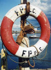 Granton Harbour  -  Life Belt and Boat  -  6 July 2004