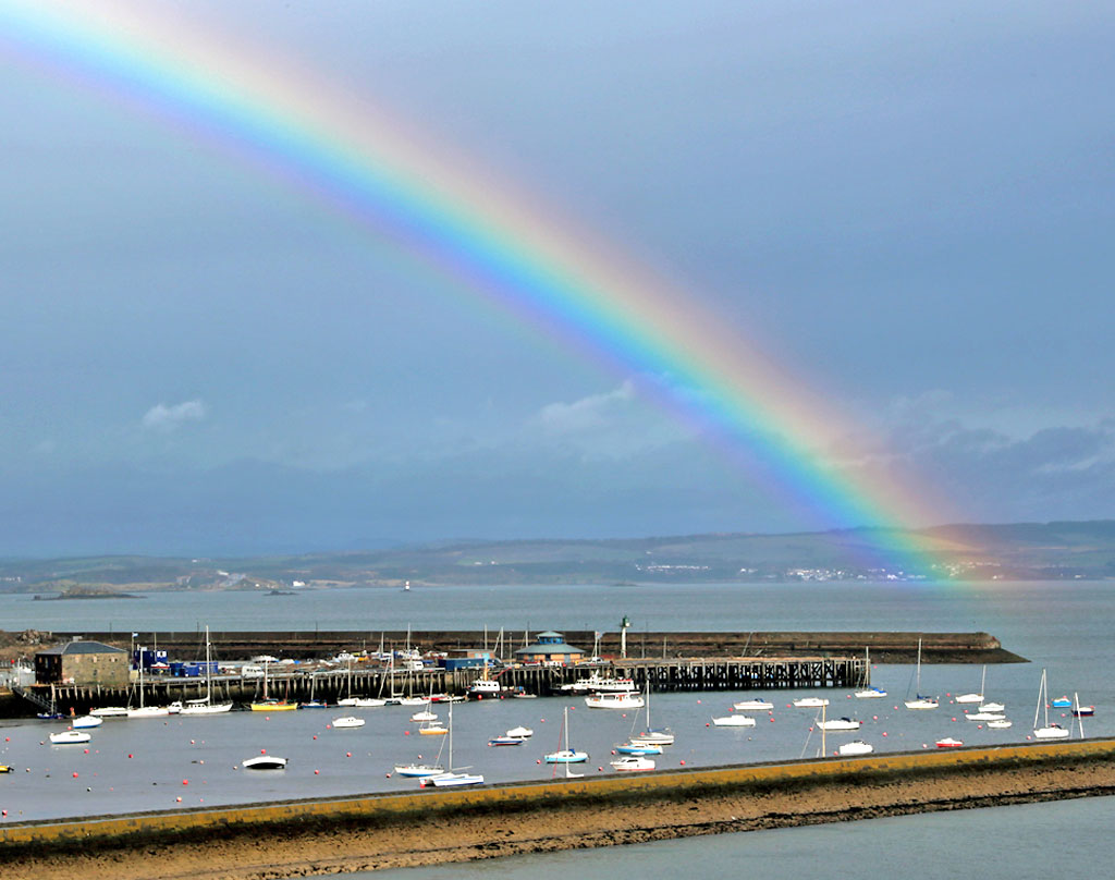 Rainbow at Granton Harbour  -  Photo taken April 14, 2012