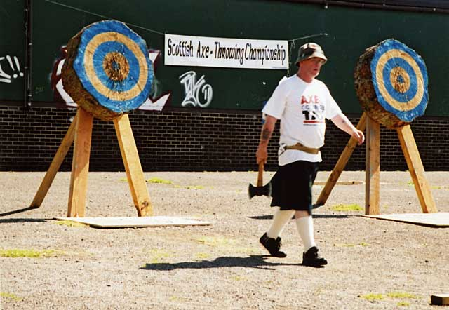 Inverleith Park  -  Scottish Axe-Throwing Championships  -  June 2004
