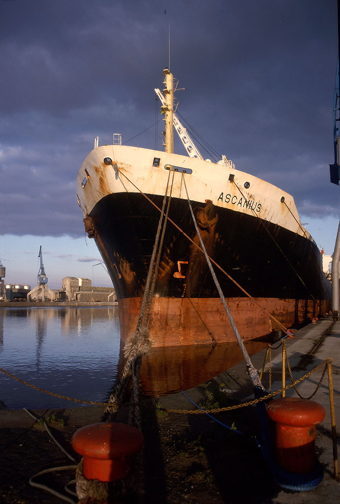 Leith Docks  -  The ship, 'Ascanius'
