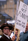Leith Docks  -  Tall Ships Festival  -  Placard, 'It's notr funny'