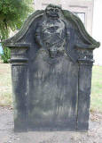Gravestone in North Leith Graveyard  -  John Broun, died 1744  -  back of the gravestone