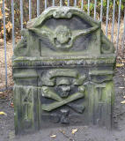 Gravestone in North Leith Graveyard  -  James Gray, died 1716  -  back of gravestone