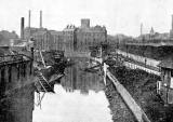 Water of Leith - old boat yard and station near Junction Bridge, Leith