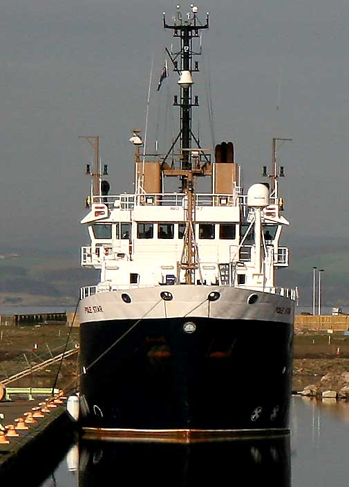 The Northern Lighthouse Ship 'Pole Star' at Leith Western Harbour - March 2007