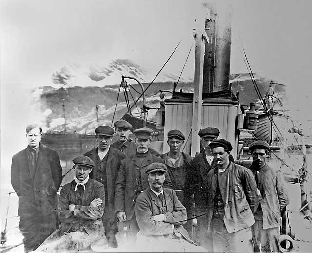 Leith whalers, working for Salvesen in the South Atlantic, around 1910