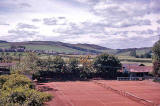View over Liberton Lawn Tennis Club from The Inch  -  Summer