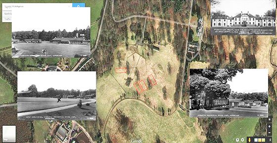 Google Maps View of the location of Middleton Camp  -  with old postcards of the camp superimposed