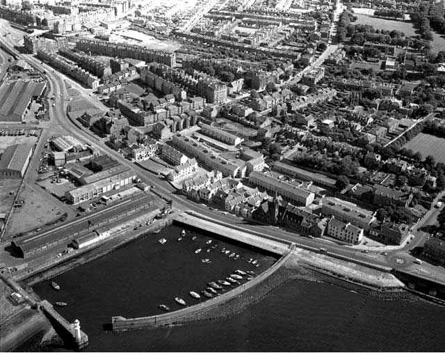 An aerial view of Newhaven  -  Photograph taken 1978