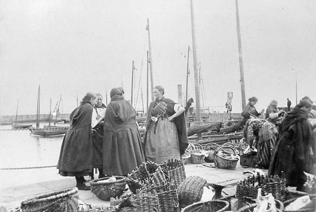 Newhaven Harbour and Market  -  Fishwives Chatting