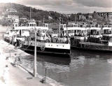 Queen Margaret  and other ferries at North Queensferry  -  Photo probably taken shortly before the Forth Road Bridge opened