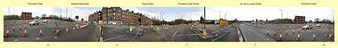 Portobello Roundabout - Panorama  -  April 2009