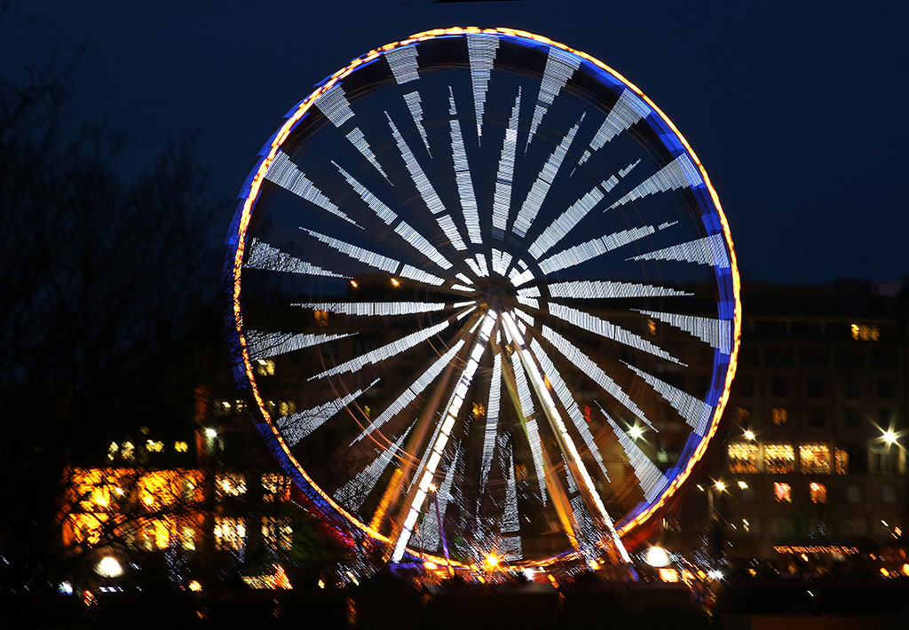 Edinburgh Wheel, East Princes Street Gardens  -  Photo taken December 2013