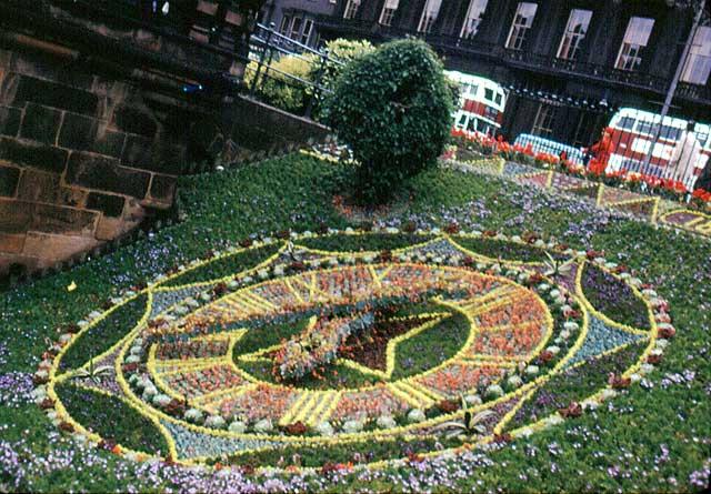 Floral Clock in Princes Street Gardens, 1962
