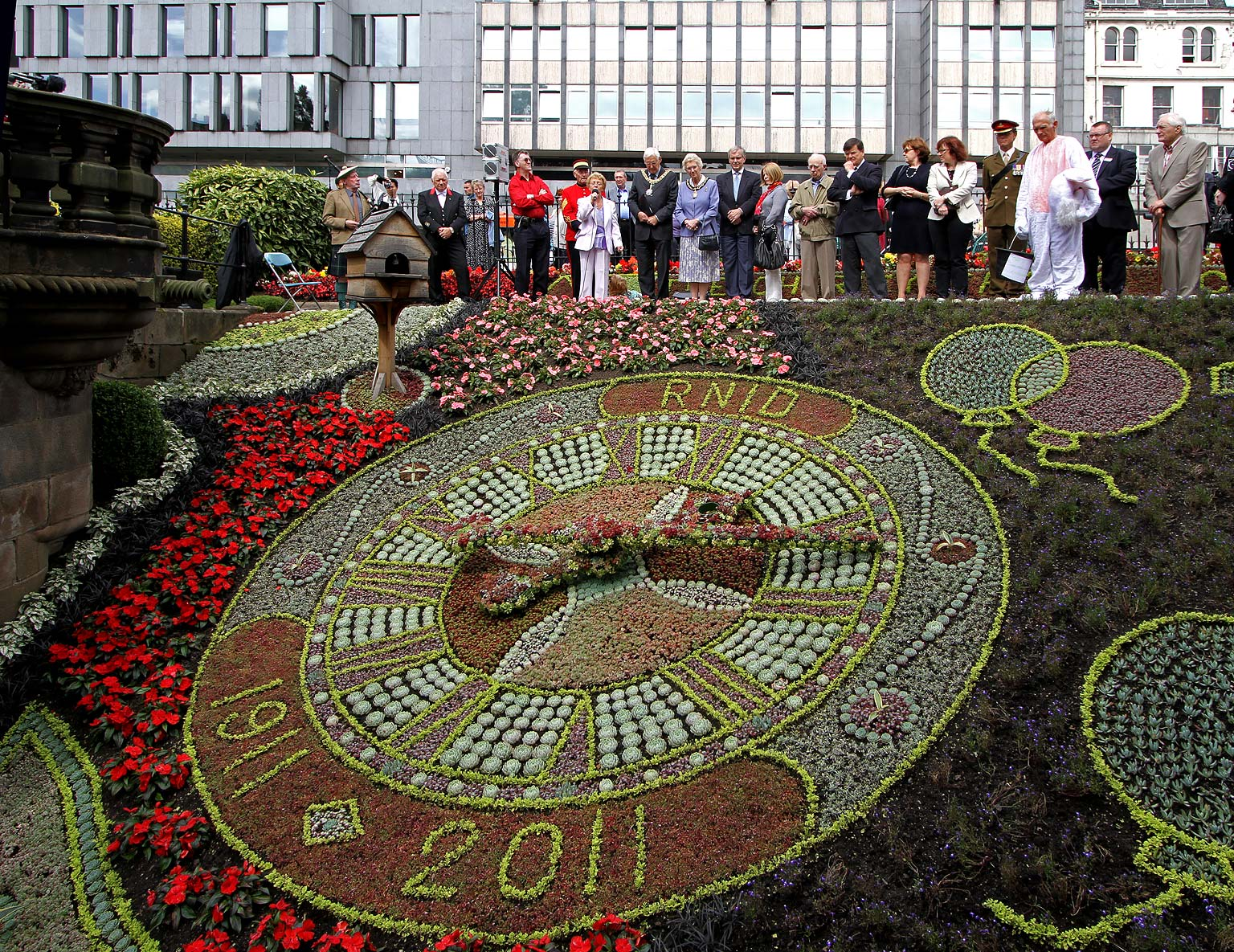 Floral Clock in Princes Street Gardens - August 2011