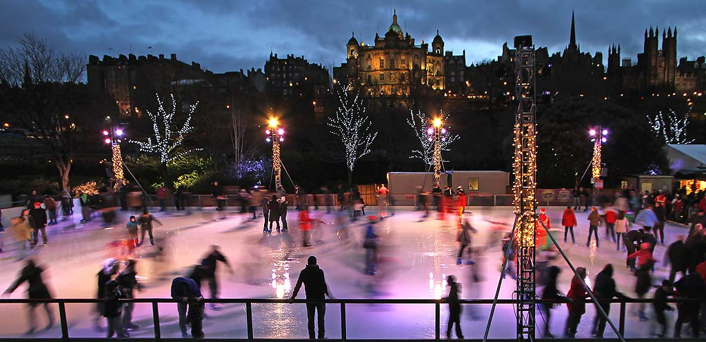 Edinburgh Ice Rink in East Princes Street Gardens  -  Christmas Eve, 2011