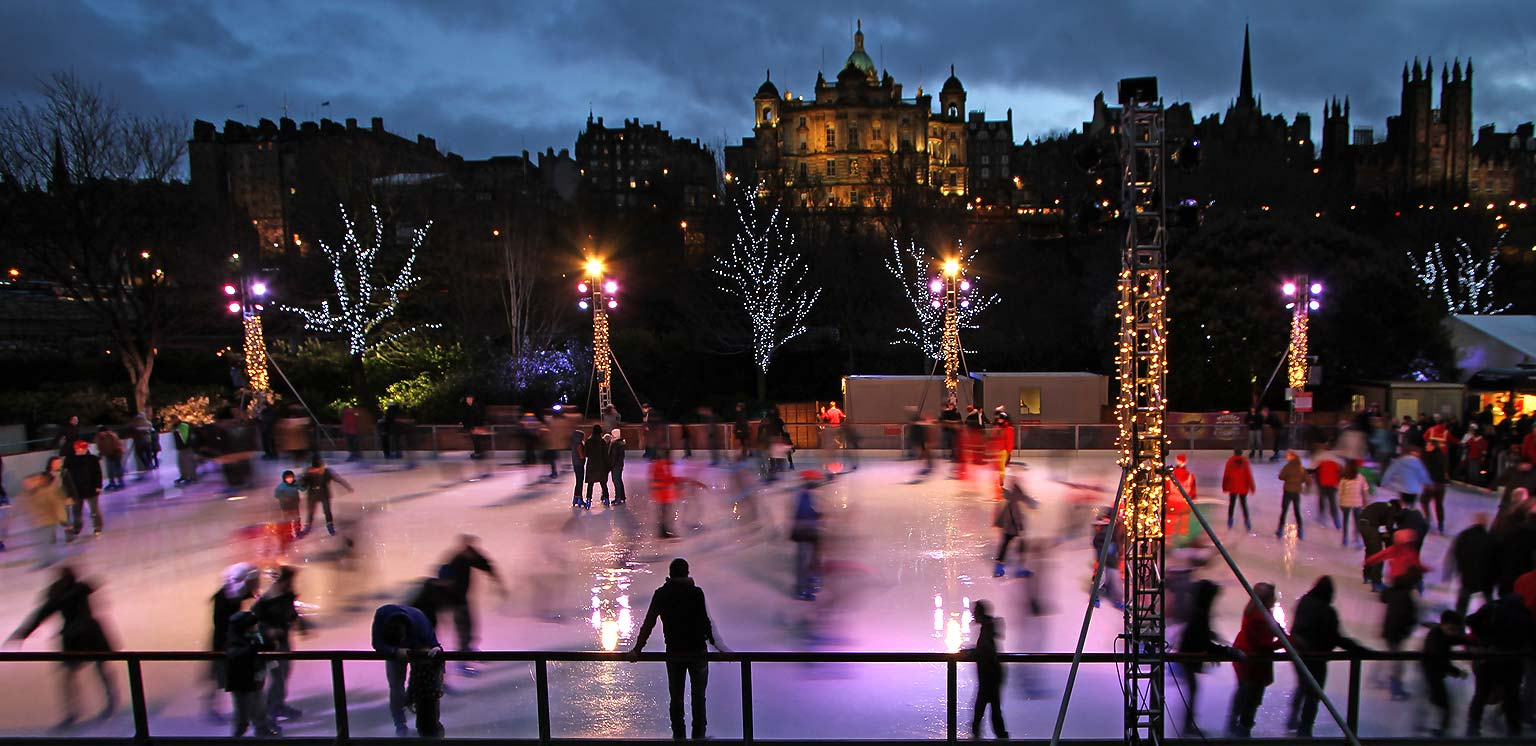 Image result for edinburgh ice rink christmas
