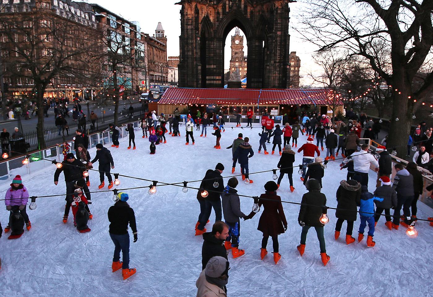 Αποτέλεσμα εικόνας για PRINCES STREET GARDENS ice skate park