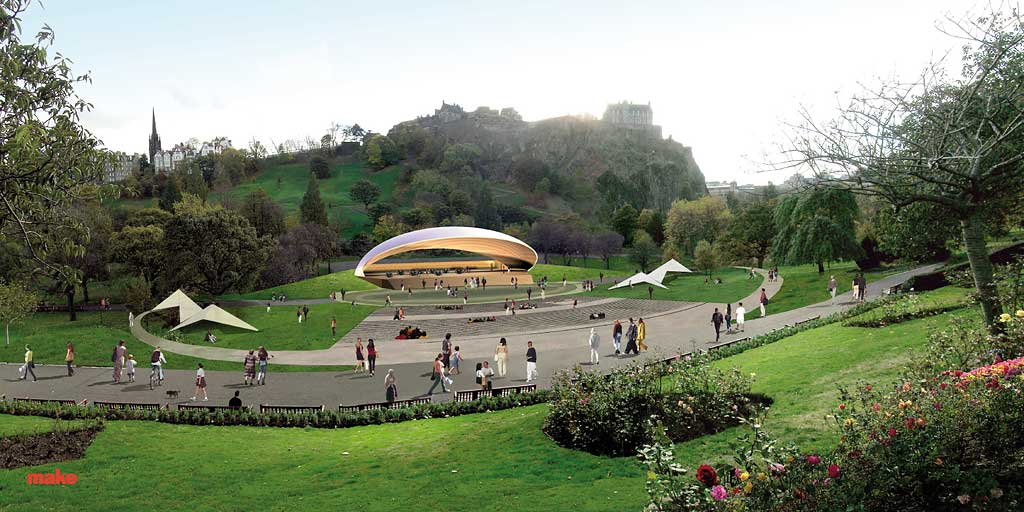 A Possible New Bandstand For Princes Street Gardens Style Shelll Daytime Ilration