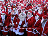 Santa Run 2010  -  West Princes Street Gardens