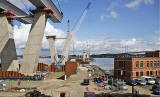 Queensferry Crossing under construction - View of southern end of crossing