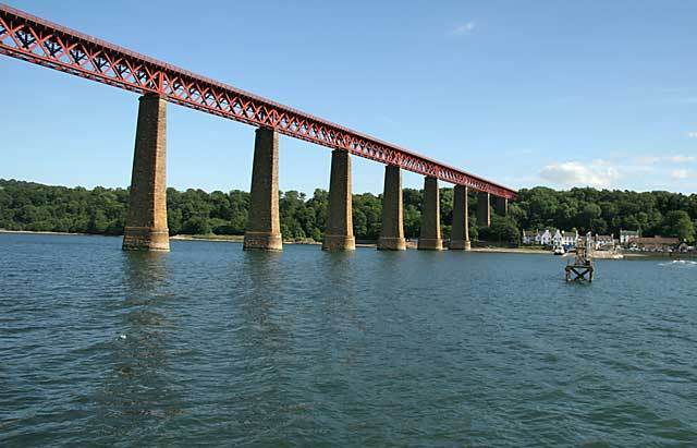 The Forth Bridge, Hawes Inn and Hawes Pier, Queensferry, Edinburgh