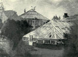 Photo taken in 1854 of the 1834 Palm House at Royal Botanic Garden, Inverleith