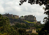 View to Edinburgh Castle, from the Royal Botanic Garden, Inverleith, Edinburgh