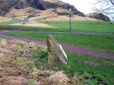 Holyrood Park  -  This stone may well be 'The Slidey Stane' mentioned in recollecitions of Holyrood Park