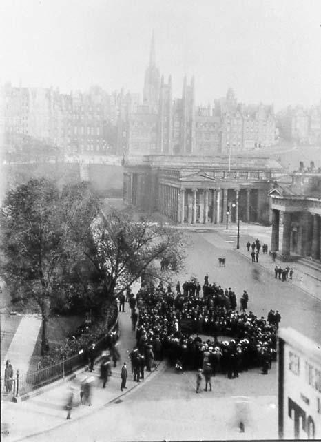 Edinburgh Social History Photographs Gathering At The