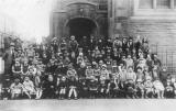 Edinburgh Social History Photographs  -  The Band of Hope outside St Mungo's Church, Albion Place, Leith in the 1920s