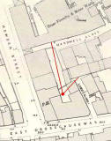 Map showing the location of one of the photos of St Loenard's district taken in the 1920s