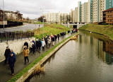 """Standard Life Strollers"" walk along the Union Canal through Wester Hailes  - 25 March 2004"