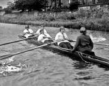 A ladies' crew, probably on the Union Canal at or near Merchiston