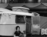 "Caravan ""'which can be towed at up to 100mph"" at the Ideal Holiday Show at Waverley Market - 1959"