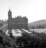 Waverley Market Roof and NB Hotel from the Scott Monument - 1969