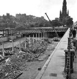 Demolition of Waverley Market Roof continues - 1973