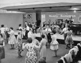 Dancing at 'This Scotland Exhibition' at Waverley Marketm, 1959