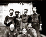 Was this photo taken at McLachlan's Coopers in the 1950s?  One of he men in this photo is Tom Bain.  Who are the other men?