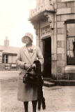 Stephen McMahon's Grandmother outside an LNER station, probably in the 1930s.  Where is this station