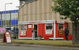 Edinburgh Waterfront  -  Derek's Place, selling hot and cold food, close to the entrance to Middle Pier, Granton Harbour  -  4 July 2006