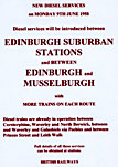 Edinburgh History - 1958  -  Adverts for the introduction of new diesel services  -  Edinburgh Suburban Stations and Edinburgh to Musselburgh