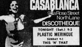 Edinburgh clubs and discos  -  Advert for Casablanca Discotheque  -  1968