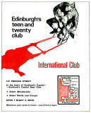 Edinburgh clubs and discos  -  Advert for The International Club  -  1960s
